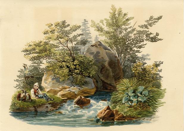 Aquarelle d'Augusta de Prusse