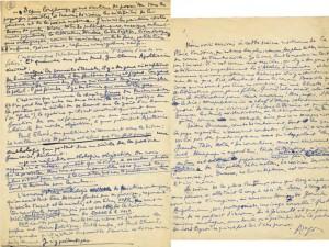 manuscrits autographes d'Aragon