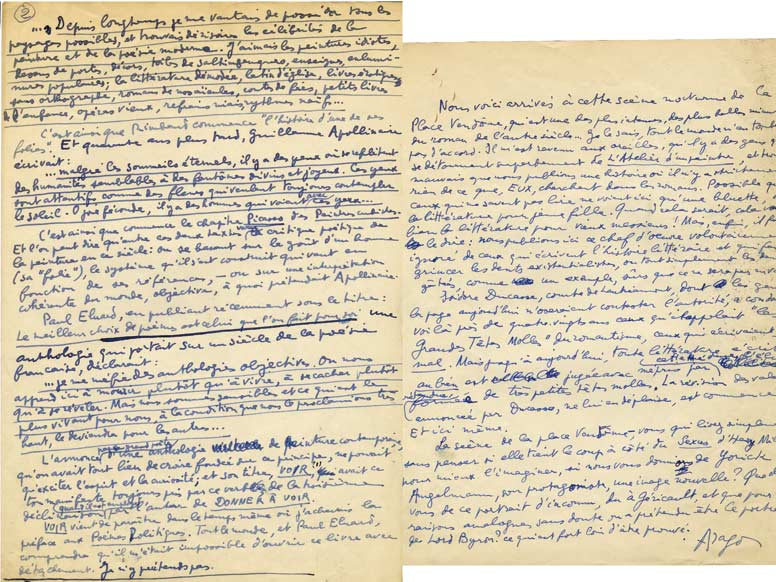 ces pr u00e9cieux manuscrits autographes d u2019aragon