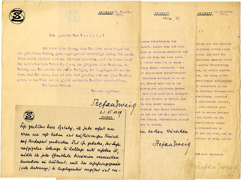 Stefan-Zweig-manuscript