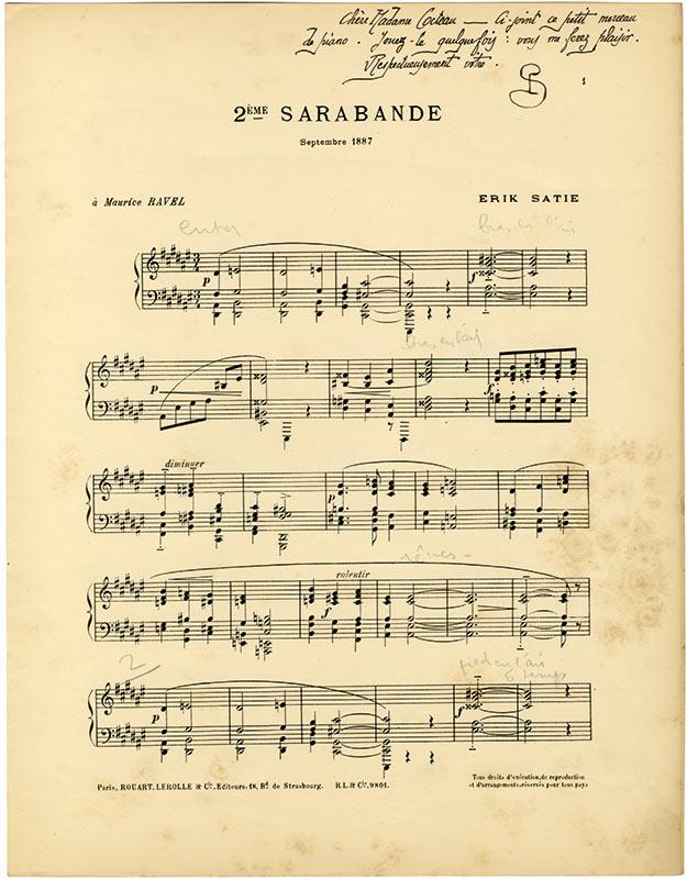 Satie-Sarabande-Cocteau