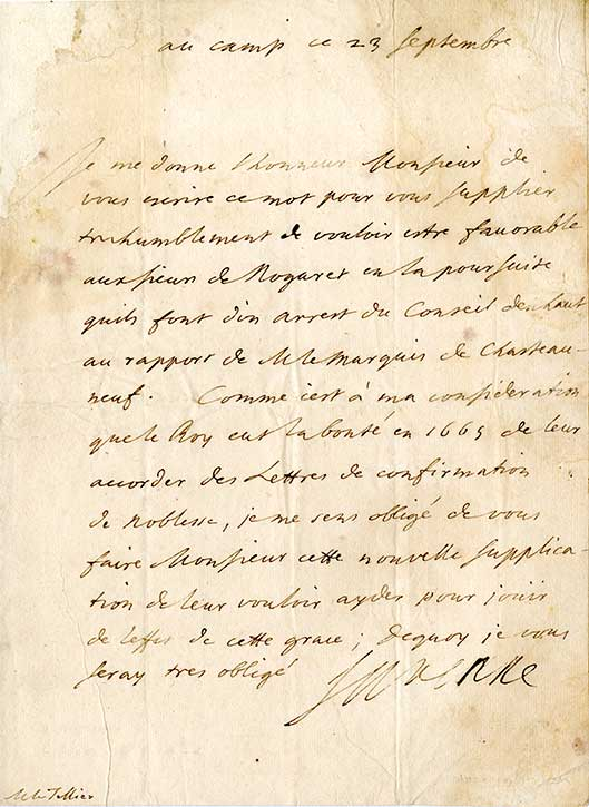 Turenne-lettre