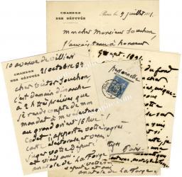 Autographes Histoire : lettres autographes signées